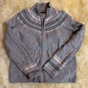 Large Columbia Women's Grey Sweater